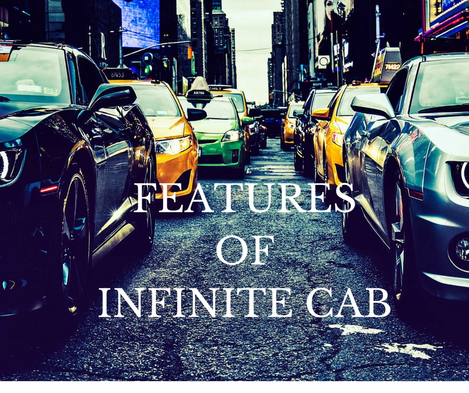 features of infinite cab taxi dispatch software