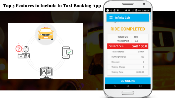 Top 5 Features to include in Taxi Booking App